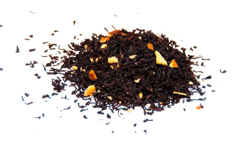 Té de naranja Té negro con trozos corteza de naranja