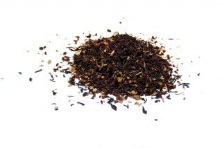 Té de menta Té negro con hojas de menta