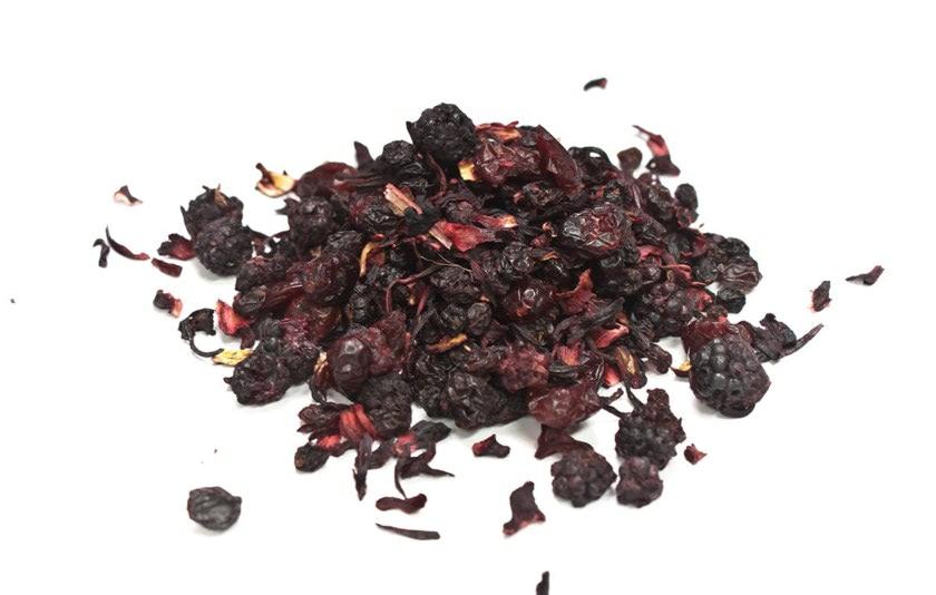 Frutas del bosque Infusión de frutas silvestres formada por: arándanos, moras, pasas, hibisco