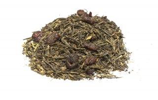 Té cereza japonés Té verde Sencha con trozos de cerezas