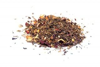 Té Egipcio Té verde con hibisco, hojas de menta, corteza de cítricos, azahar, pétalos de rosa