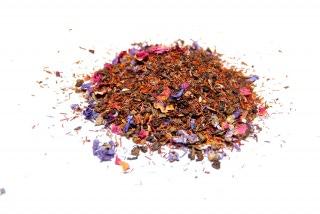 Té Al Andalus. Mezcla de tés verdes y rooibos con fresas, hierbabuena