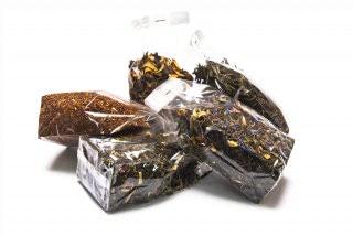 Selección de bolsitas de té de granada. 6 variedades de té