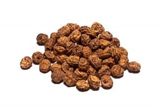 Chufas. Tuberculo redondeado usado para la preparación de la horchata