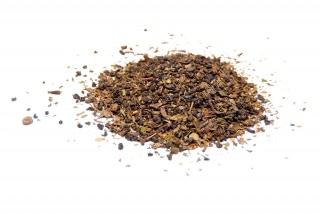 Té Moruno (Tuareg) con base de té verde Gundpowder con hierbabuena y aroma natural.