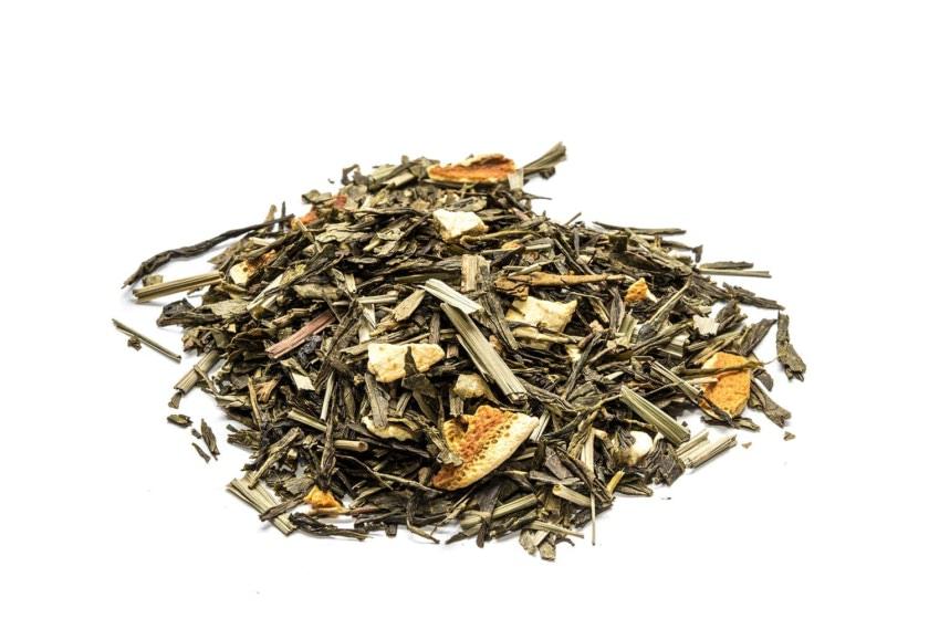 Té verde lima limón. Con base de Té verde Sencha con lemon grass, corteza de cítricos, azúcar de limón