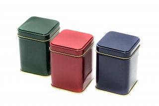 Lata de colores para almacenar tes o especias. Capacidad 50 gr