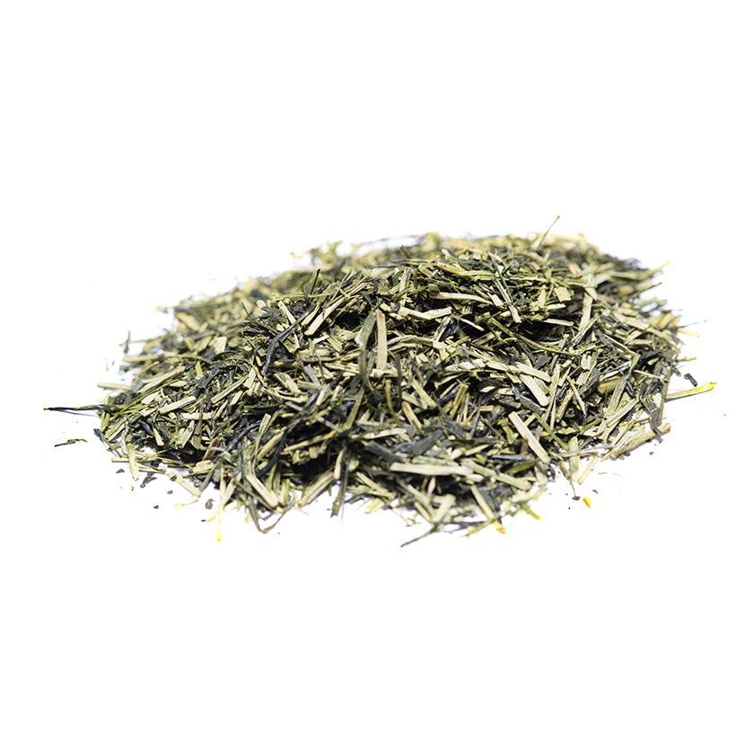 Té kukicha verde. Té de altísima calidad alta muy popular en Japón. Se utilizan tallos finos y se mezclan con las ramitas y hojas finas de un Sencha. Especias Barranco