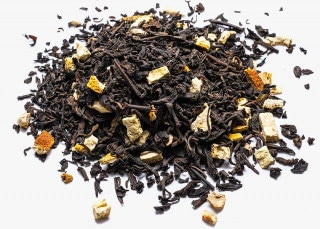 Té rojo con jengibre, corteza de naranja y aroma natural de limón