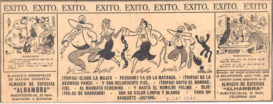Anuncio de la época. 1941. - Lo más alto de España es el Tajo de Ronda! - ¡Que va! Es de más altura el Barranco de Granada