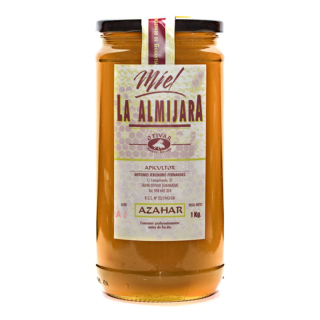 Miel de Azahar. La Almijara del apicultor Antonio Jerónimo (Granada). Producción limitada. Bote 1kg. www.especiasbarranco.com