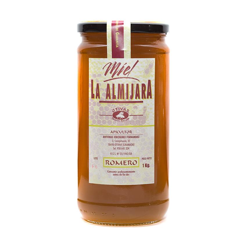 Miel de Romero. La Almijara del apicultor Antonio Jerónimo (Granada). Producción limitada. Bote 1kg. Especias Barranco